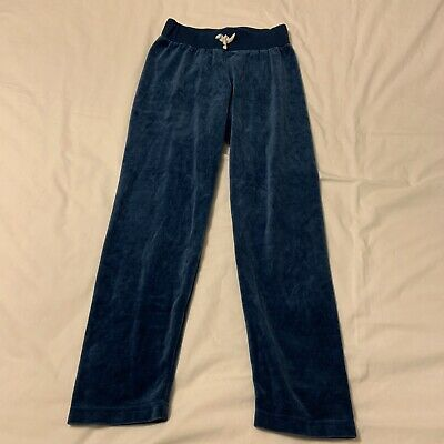 HANNA ANDERSSON 140 US 10 yr Blue Turquoise Velour Pants Never Worn!