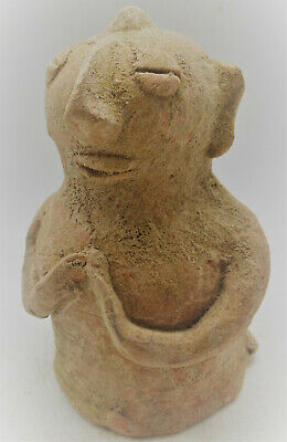 Circa 2200-1800Bce Ancient Indus Valley Harappan Terracotta Pillar Idol