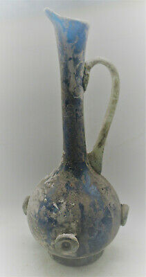 Museum Quality Ancient Roman Blue Glass Vessel Circa 200-300Ad Approx 25Cm