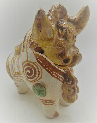 Wonderful Old Antique Chinese Glazed Terracotta Bull Statue