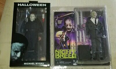 HALLOWEEN CLOTHED MICHAEL  MYERS + NIGHTBREED DR. DECKER Figures Neca blu