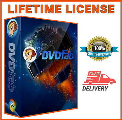 DVDFab 11 Blu-Ray Ripper Portable Version Lifetime Activation Instant Delivery
