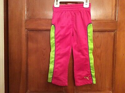 Puma Toddler Girl SZ 24 month Hot Pink Athletic Pants Barely Worn