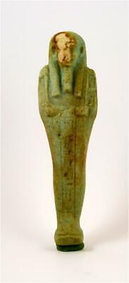 Egypt Late period 26-30th dynasty faience shabti for the Priest Sematauitefnakht