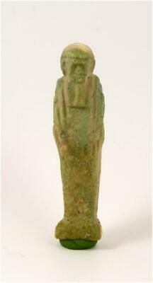 Egypt Late period  blue-green glazed faience ushabti