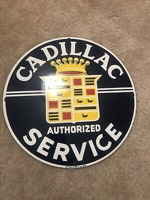 Ande Rooney Porcelain Sign - Cadillac Service