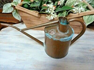 Vintage HAWS Old COPPER Watering Can England  ~ Patina ~