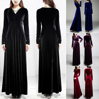 Women's Dress Ladies Maxi Dress Fashion Party Solid Wedding Loose Casual