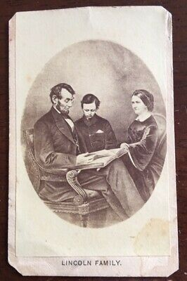 Civil War, Early 1860's *Abraham Lincoln & Family* CDV, Died April 15th, 1865