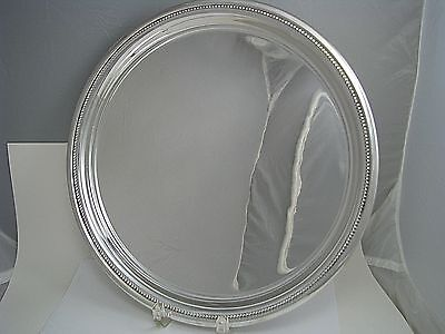 RANDAHL STERLING SILVER TRAY PLATTER PLATE The Randahl Shop Chicago 1940 No Mono