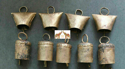 Tin Metal Bells Decorative Home Decor Bronze Vintage Collectibles Bell 10 Pcs