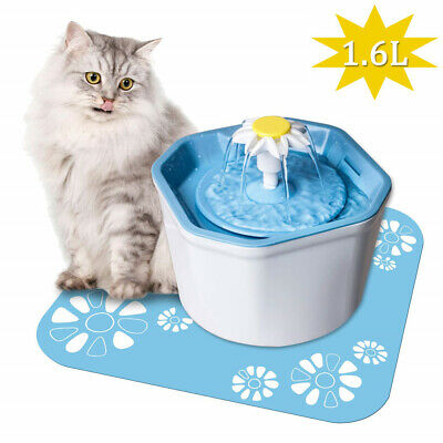 Pet Water Fountain Electric Water Dispenser For Cat Dog Automatic Three Modes BO