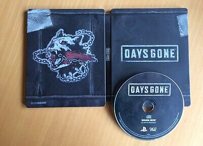 Days Gone PS4 Steelbook Case + Original Soundtrack Audio CD, Brand NEW *no game*