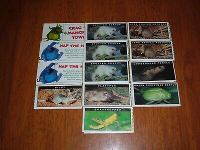 Yowie Series 1 Papers X 13 All Intact (Very Good)