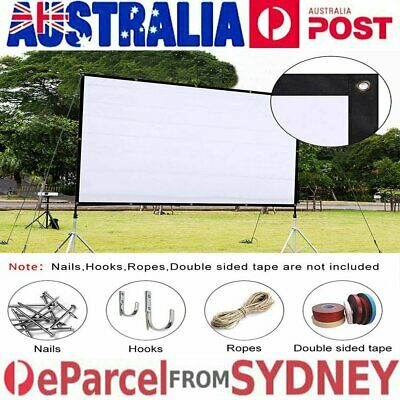 Foldable Projector HD Screen 16:9/4:3 Home Cinema Theater Projection In/Outdoor