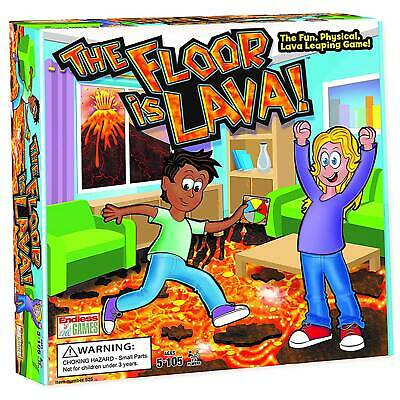 Lava jumping! The Floor is Lava! Easy to Play Board Game for Kids and Adults
