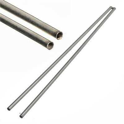 2Pcs 304 Stainless Steel Capillary Tube OD 2mm x 1.6mm ID Length 500mm Pack US