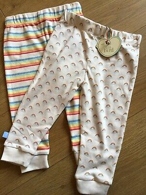 Little Bird By Jools Oliver Set Of 2 Leggings Rainbow & Striped 12-18 Mths 🌈