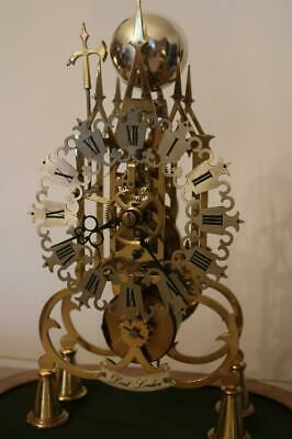 SKELETON CLOCK by E.DENT single fusee, passing bell strike, working order c1981