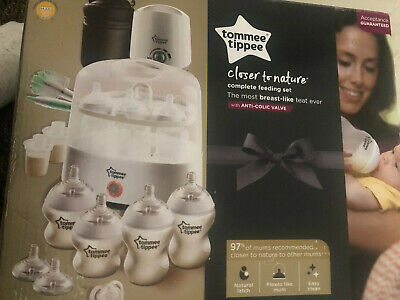 Tommee Tippee Complete Feeding Set Closer to Nature Improved Steriliser White