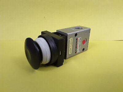 SMC Push Button Operated 2 Port Air Pneumatic Valve NUM230-N02-30-B-YSI *