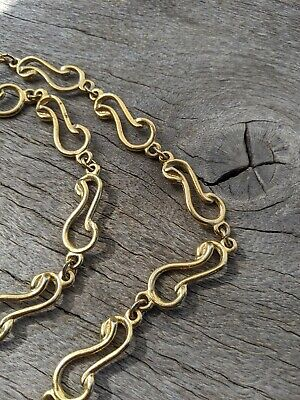 Retro Vintage Gold Tone Swirls Belt or Long Necklace Jewellery  .D60