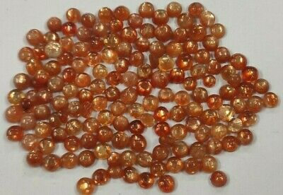 Natural Brazilian Gold Sunstone 4 mm Round 50 Pcs Loose Calibrated Wholesale Lot