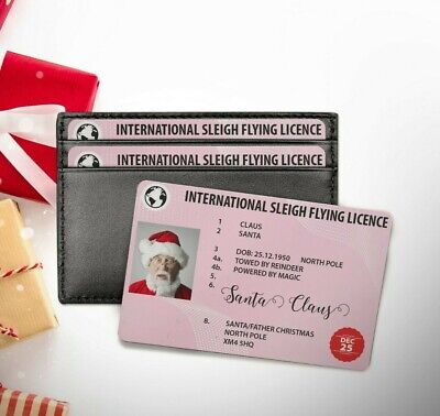 Santa Claus Lost Driving Sleigh Licence Father Christmas Gift