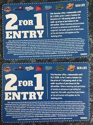 2 For 1 Entry Chessington Alton Towers Thorpe Park Sea Life and More