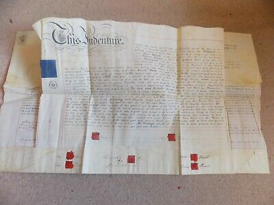 1832 Original Large Vellum Conveyance from Welshpool 'North Wales' Plot of Land