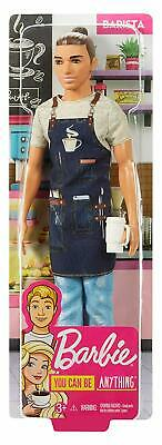 Barbie FXP03 Ken Barista Doll in Career-Themed Outfit, Multi-Colour