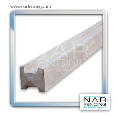 Concrete Intermediate Slotted Post Fence Support - Products by NAR Fencing