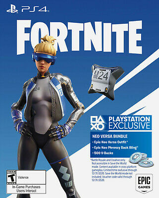 Fortnite pack PS4 NEO VERSA + 500 V-bucks (Code FR)