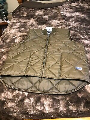 NEW Vintage BIG SMITH Zip Vest MENS 2XL Quilted Puffer Green USA Trucker Hunting