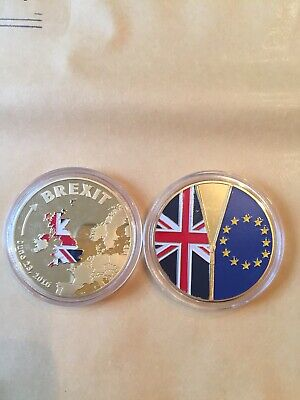 Brexit Coin Gold Looking Coin Cook Islands Commemorative Coin