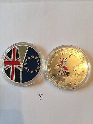 Brexit Coin Silver looking Coin Cook Islands Commemorative Coin