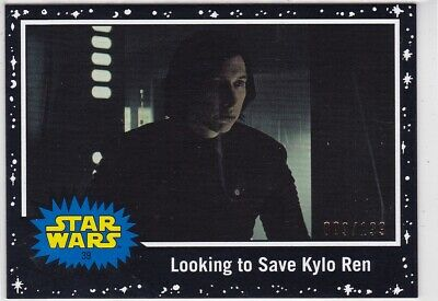 Topps Star Wars Journey To The Rise of Skywalker card #39 Black Parallel 009/199