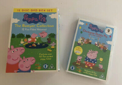 Peppa Pig The Bumper Collection 12 Disc DVD Set and Peppa Pig Champion Daddy Pig