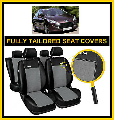 Fully Tailored Premium Car Seat Covers For Peugeot 307 2001 - 2008  Leatherette