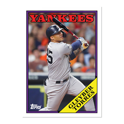 2019 Topps Gleyber Torres #247 ONLY from TBT Set 42 1988 NY Yankees ALCS PS