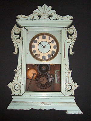 Seth Thomas Gingerbread 1875 Antique Wall Clock For Restoration