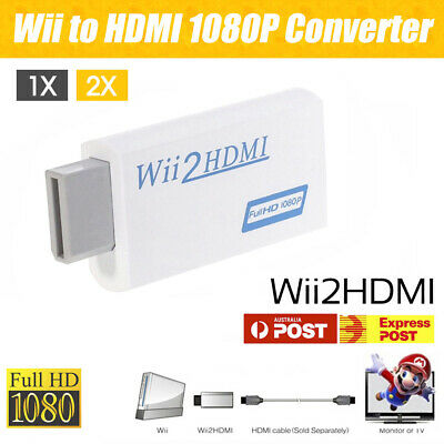 Wii HDMI Adapter 1080p Wii to HDMI Converter 3.5mm Audio HD Video Output 1/2x