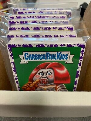 2019 Garbage Pail Kids Revenge Of Oh The Horror-Ible 200 Card Purple Spatter Set
