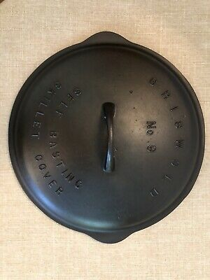 Griswold No. 9 Self Basting Skillet Lid, Low Dome w/Raised Letters, P/N 469B