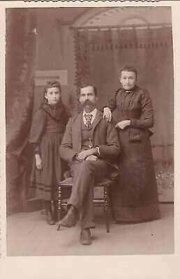 Cabinet Card Photographer Weston, Ca, Sister, Blower Broach,Locket Necklace