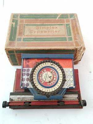 ►antigua maquina escribir de juguete rare ANTIQUE tin toy typewriter SIMPLEX A►