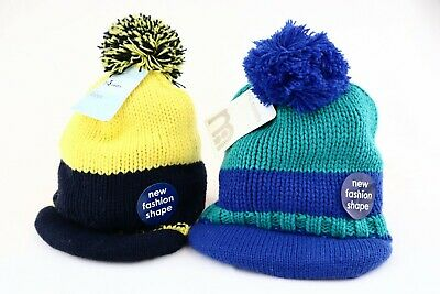 Mothercare Boys Knitted New Fashion Shape Winter Warm Hat Brand New