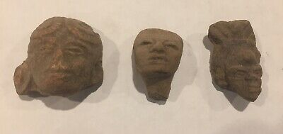 3 Pieces Pre Columbian Artifacts