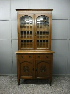 Antique  Edwardian Oak Bookcase