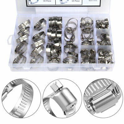 80 in 1 Jubilee Assorted Hose Clamp Set Clamps Clip Type Clips Inc Driver Tools